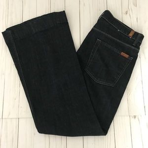 7 For All Mankind Ginger Dark Wash Flare Jeans 31